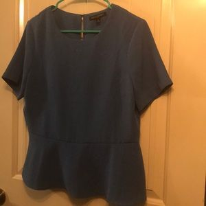 Blue Banana Republic peplum top.